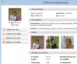 messenger profil celibataire